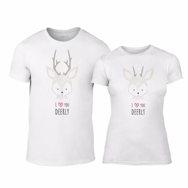 a4bef7f8681a Μπλουζες για ζευγάρια Deerly λευκό