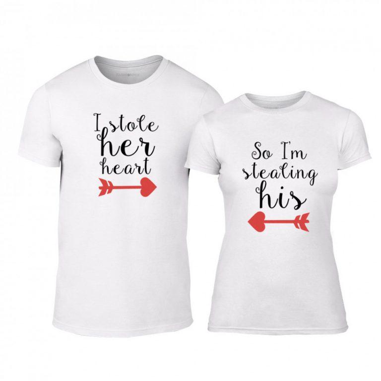b464c59154e7 Μπλουζες για ζευγάρια Stolen Hearts λευκό