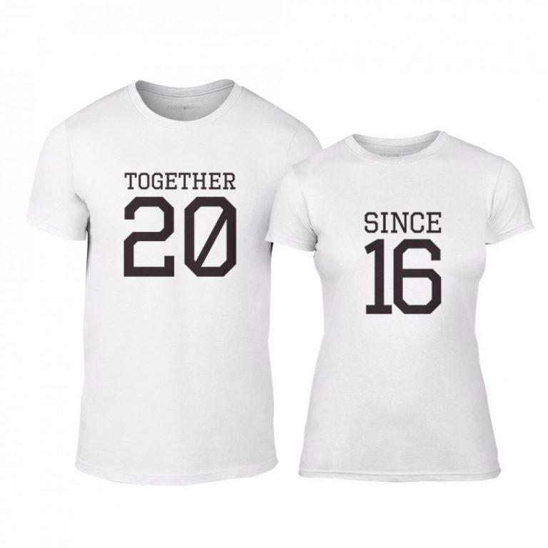 3f9e8fa6be56 Μπλουζες για ζευγάρια Together Since 2016 λευκό